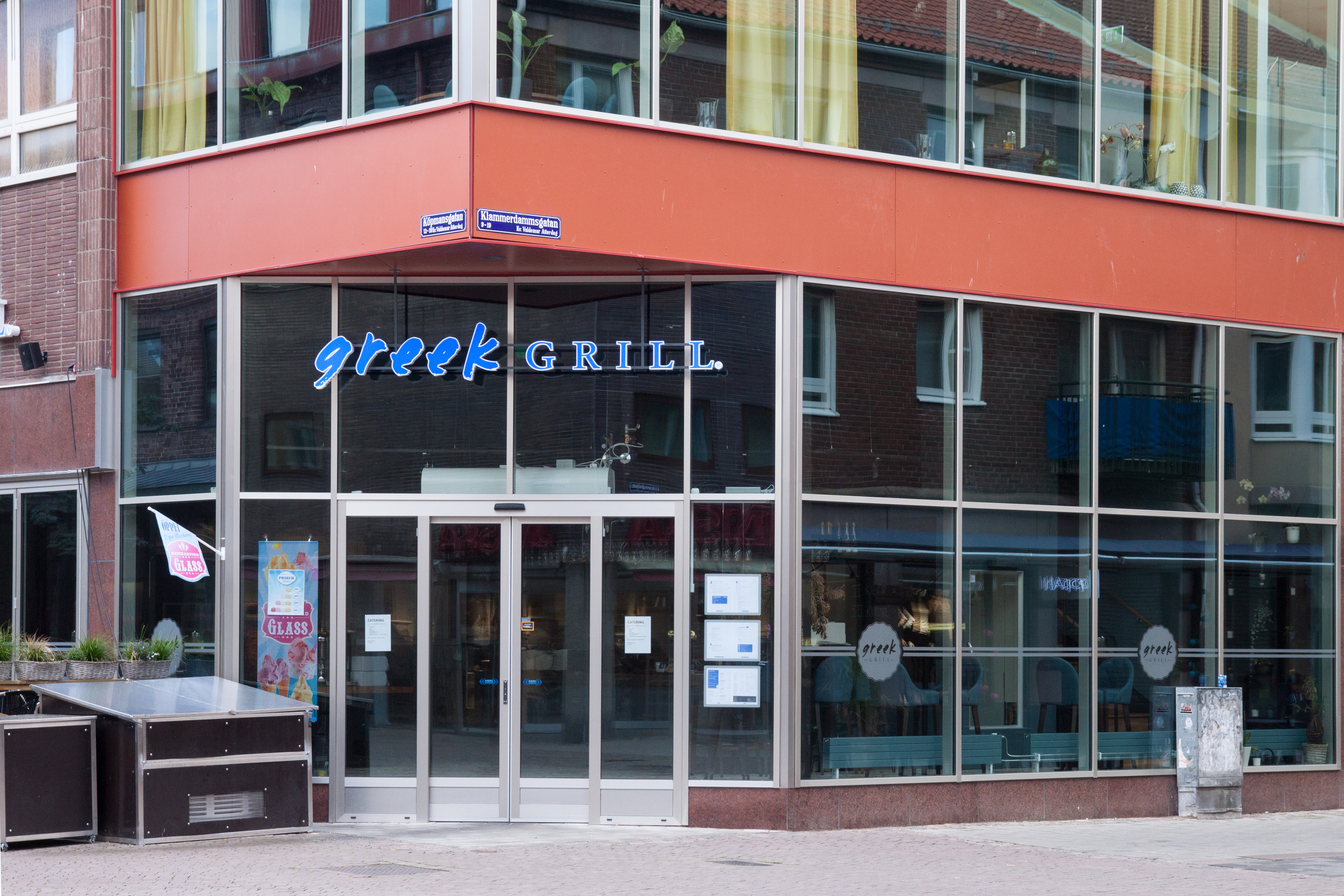 Greek Grill i Åhlenshuset i Halmstad